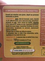 Brownie choco aux noisettes - Ingrédients - fr