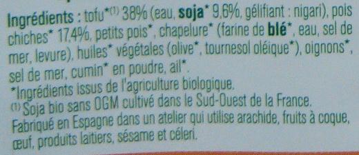 15 Falafels - Ingrediënten