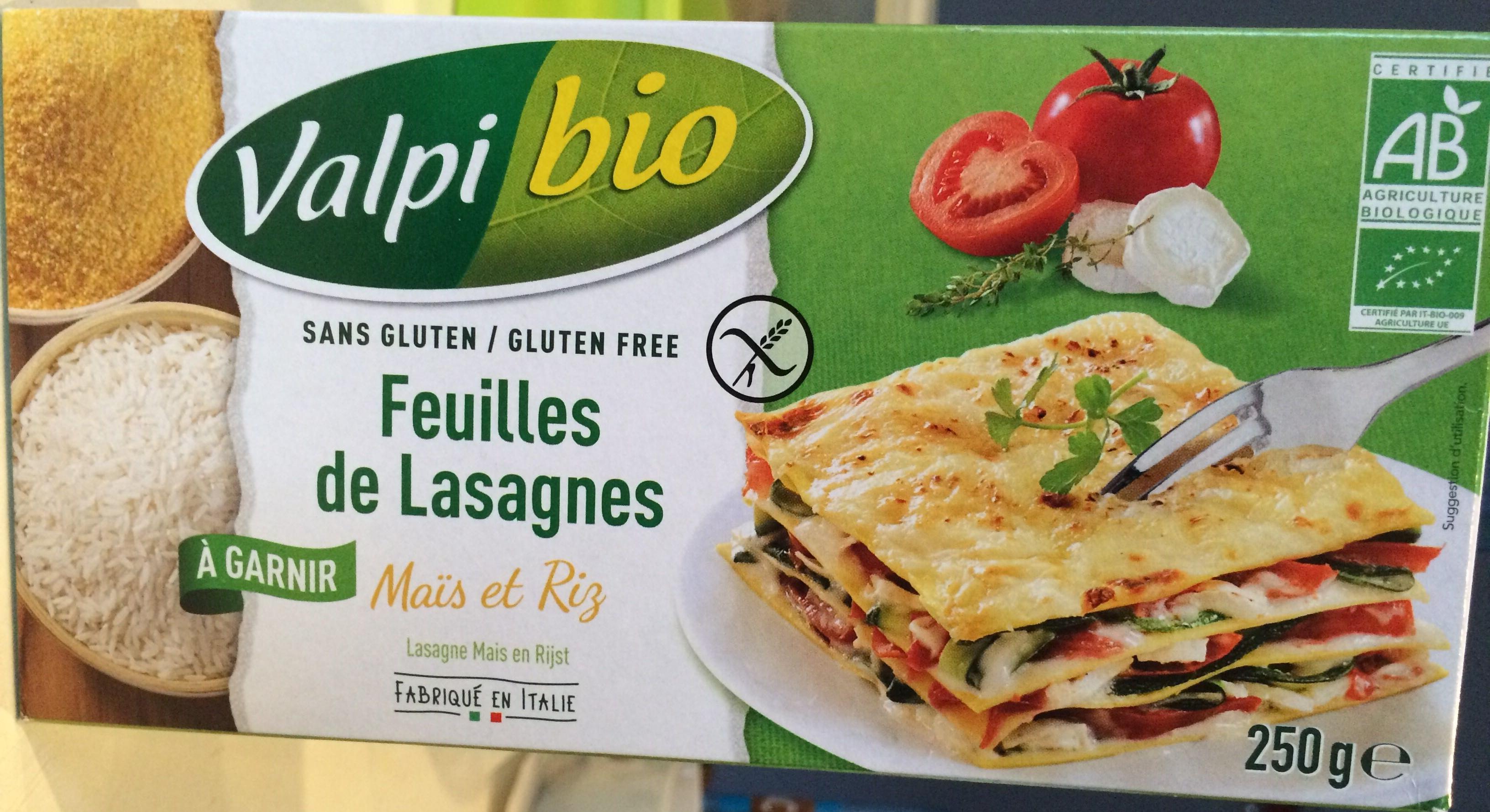 Feuille de Lasagnes Maïs et Riz - Produit