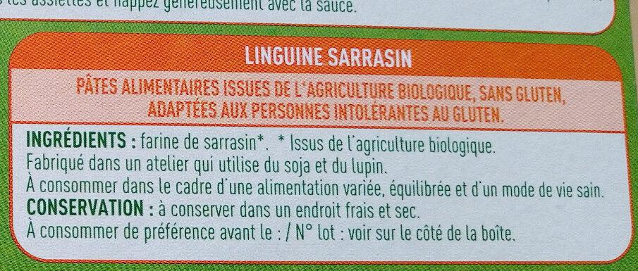 Linguine Sarrasin - Ingrédients - fr