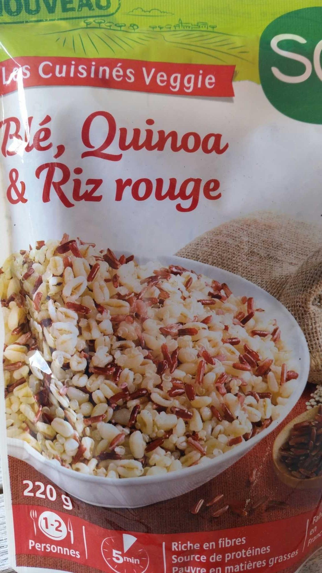 Blé, Quinoa & Riz rouge  Soy  220 g
