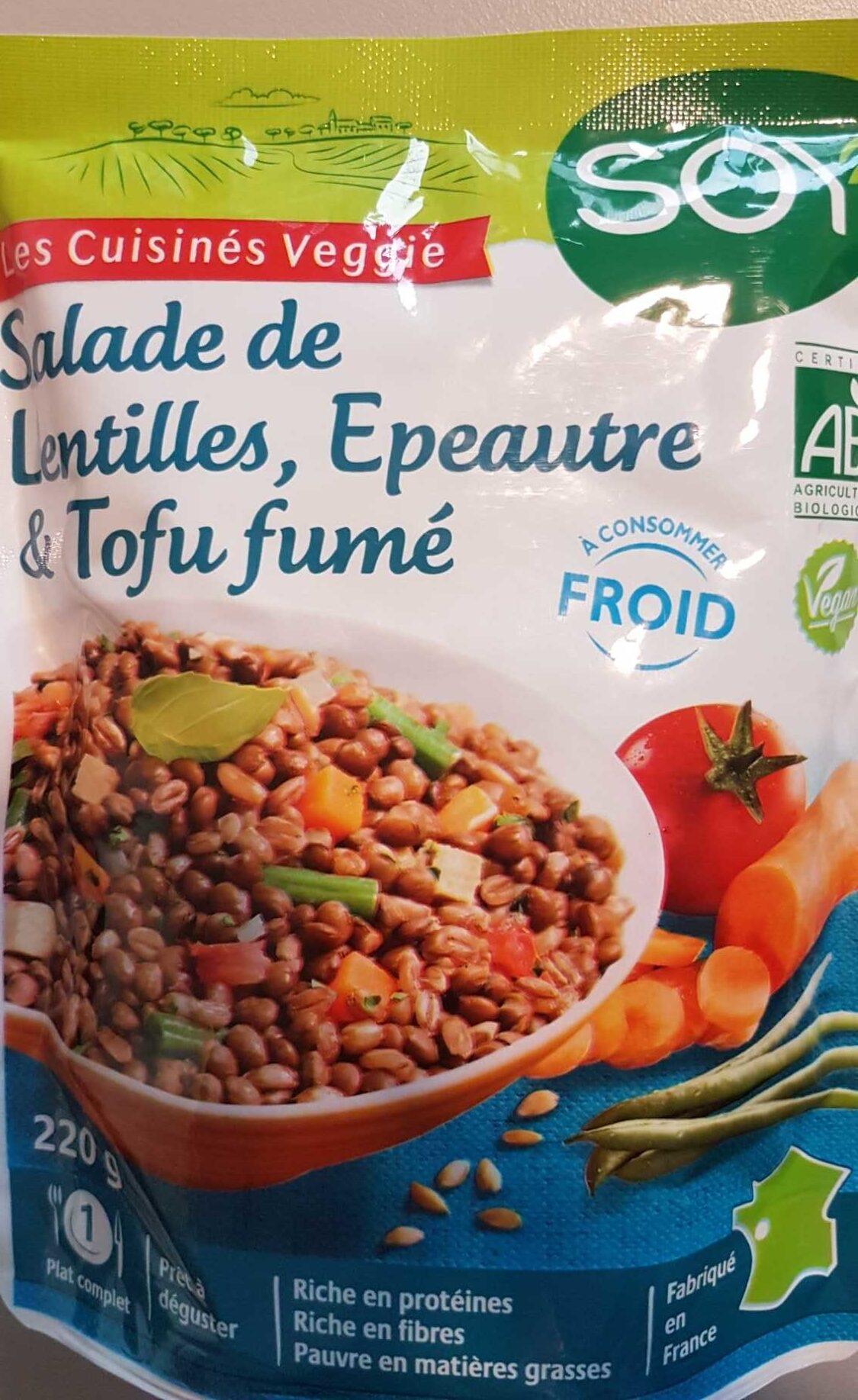Salade de lentilles, épeautre & tofu fumé - Product