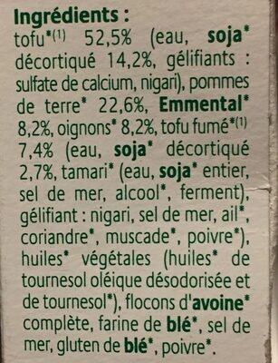 Croc Tofou montagnard - Ingredients
