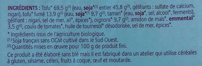 Tartes veggie  Lorraine - Ingrédients - fr