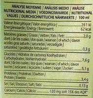 Boisson Soja Miel Sarrasin - Informations nutritionnelles - fr