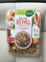 Salade Repas Veggie Lentilles Boulgour Feta - Produit - fr