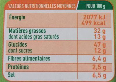 Bouillons de légumes - Informations nutritionnelles
