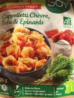 Cappelleti Epinard Et Tofu Chevre - Product - fr
