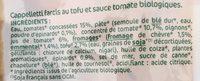 Cappelleti Epinard Et Tofu Chevre - Ingredients - fr