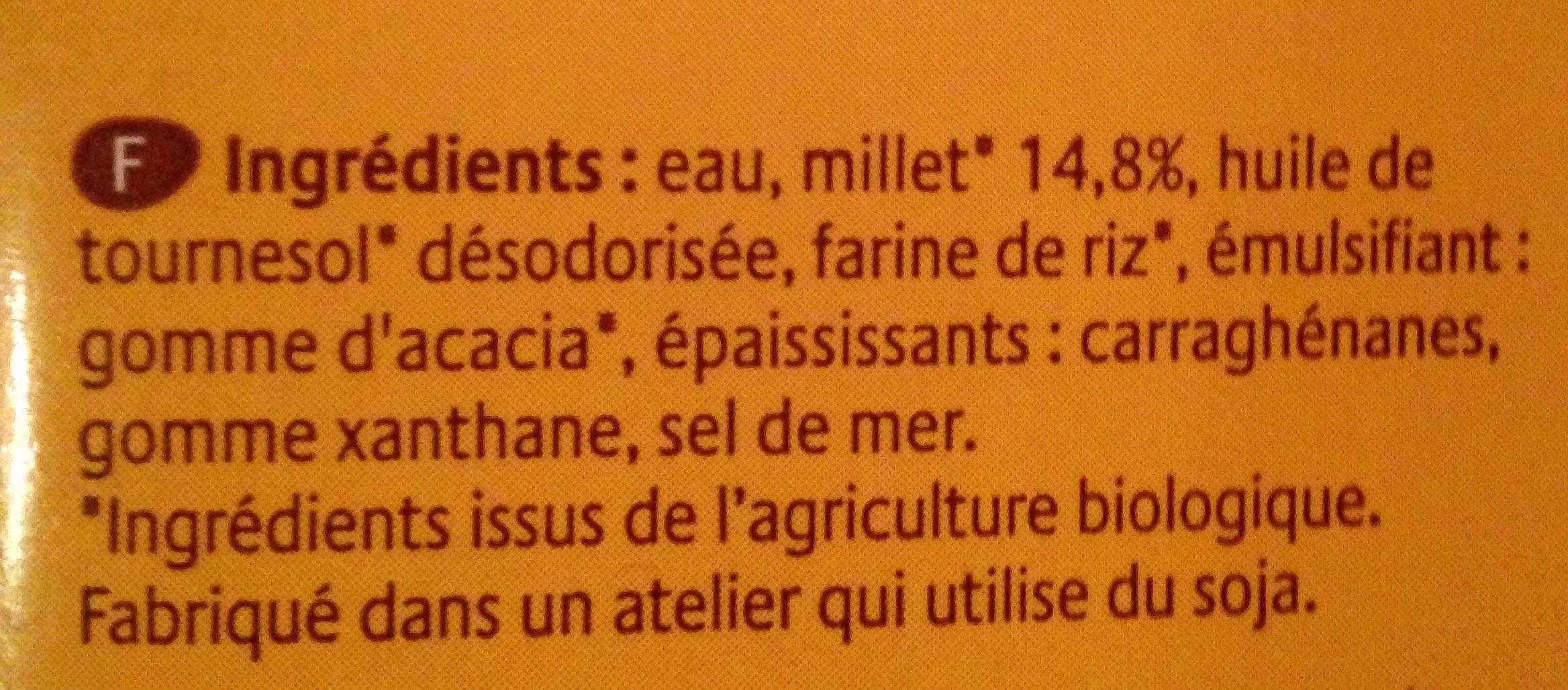 Boisson au Millet français Nature - Ingrédients - fr