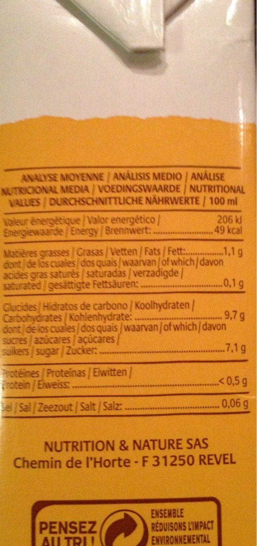 Boisson au Millet français Nature - Informations nutritionnelles - fr