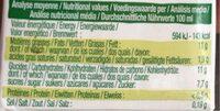 Millet cuisine - Nutrition facts - fr