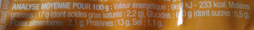 Soyciss' Classique au tofu - Nutrition facts - fr