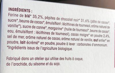Cookies pepites de chocolat noir - Ingrediënten - fr