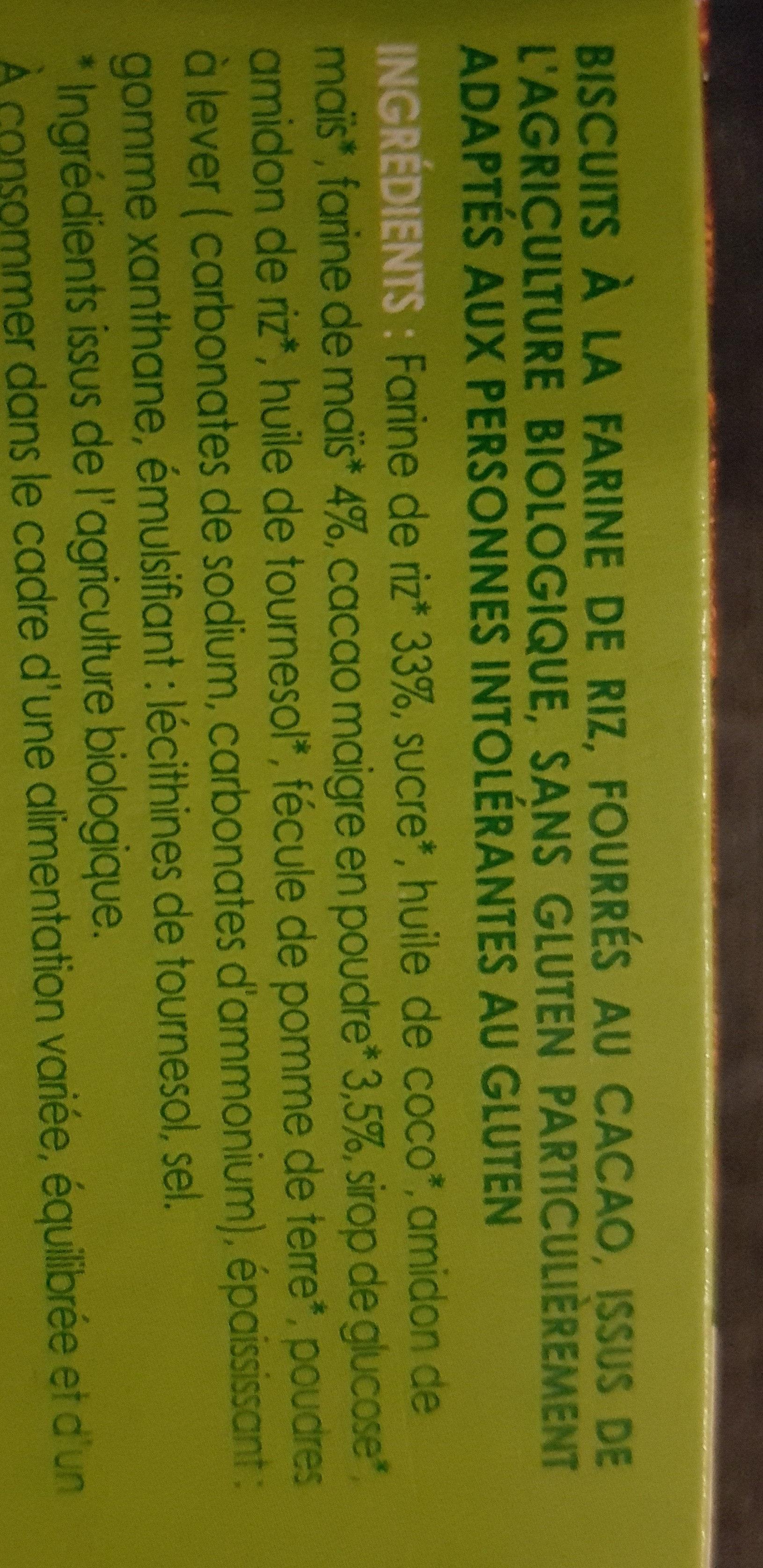 biscuits coeur cacao - Ingredients - fr