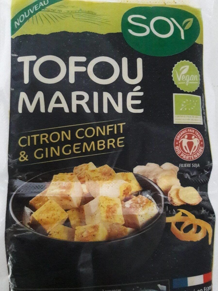 Tofu mariné citron et gingembre - Produit - fr