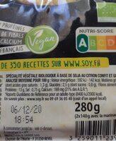 Tofu mariné citron et gingembre - Informations nutritionnelles - fr