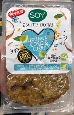 Galettes Poireaux coco & curry - Produit