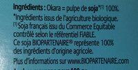 Okara nature - Ingrédients - fr