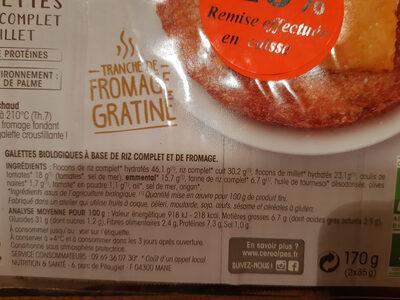 Galettes au riz et millet - Ingrédients - fr