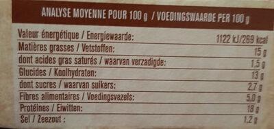 Le savoureux GRILL oignon et herbes de provence - Nährwertangaben