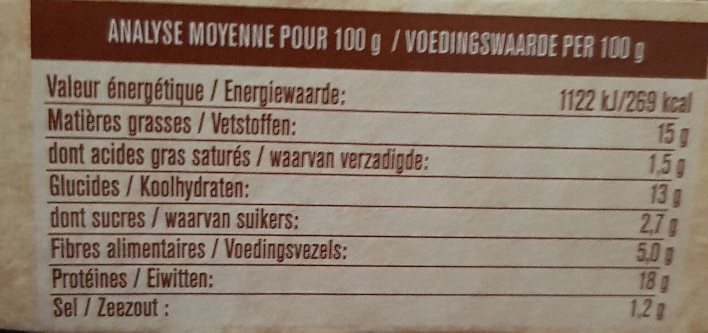 Le savoureux GRILL oignon et herbes de provence - Nährwertangaben - fr