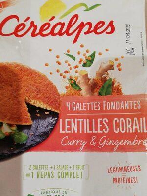 Galette lentilles corail curry gingembre - Product - fr