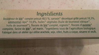 Galette sarrasin boulghour à l'emmental - Ingrediënten