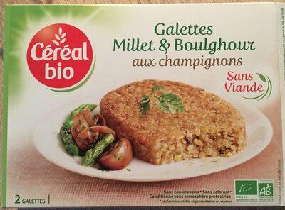 Galettes millet et boulghour aux champignons - Produit