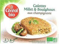 Galettes millet et boulghour aux champignons - Prodotto - fr