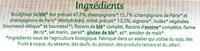 Galettes millet et boulghour aux champignons - Ingrédients