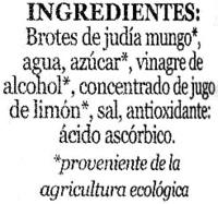 """Brotes de judía mungo en conserva ecológicas """"Minerve"""" - Ingredients"""