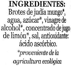 """Brotes de judía mungo en conserva ecológicas """"Minerve"""" - Ingredients - es"""