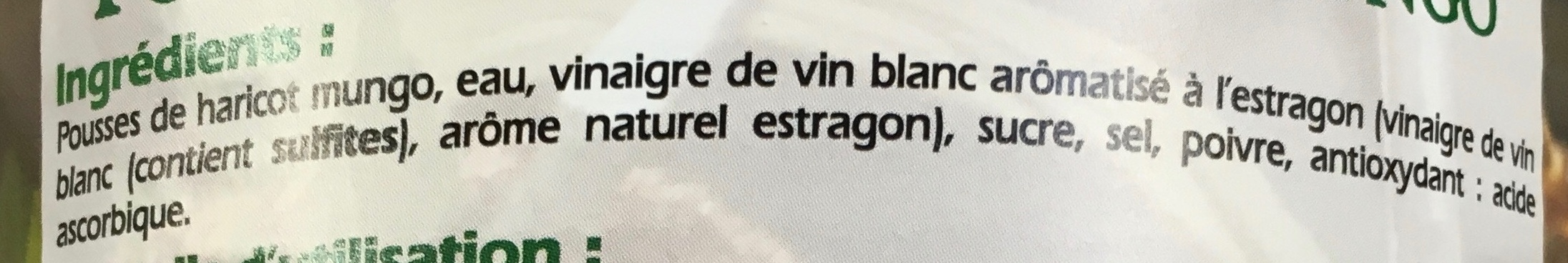 Pousses de Haricot Mungo pour fricassées et salades - Ingrédients - fr
