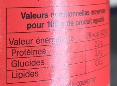 Pousses de Haricot Mungo (Pousses de Soja) - Nutrition facts