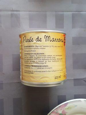 Purée De Marrons - Ingrédients