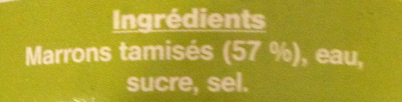 Purée de marrons - Ingrédients - fr