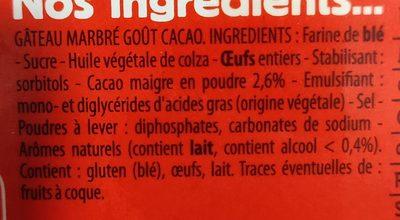 Mon Cake Marbré Cacao - Ingrediënten