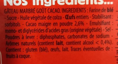 Mon Cake Marbré Cacao - Ingrédients - fr