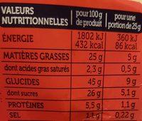 Mon Cake Marbré Cacao - Informations nutritionnelles - fr
