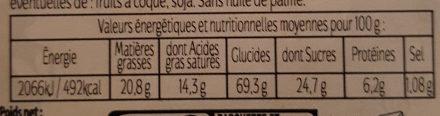 Galettes Bretonnes pur beurre - Informations nutritionnelles