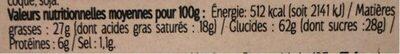 Assortiment Palets et Galettes Pur Beurre - Informations nutritionnelles - fr