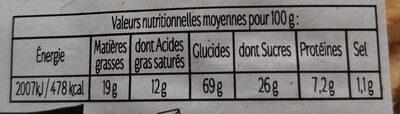 Galettes Bretonnes Le Guillou - Barquette 560 g - Voedingswaarden - fr