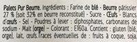 Palets Bretons Pur Beurre - Ingredienti - fr