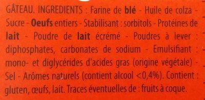 le Moelleux - Ingredients - fr