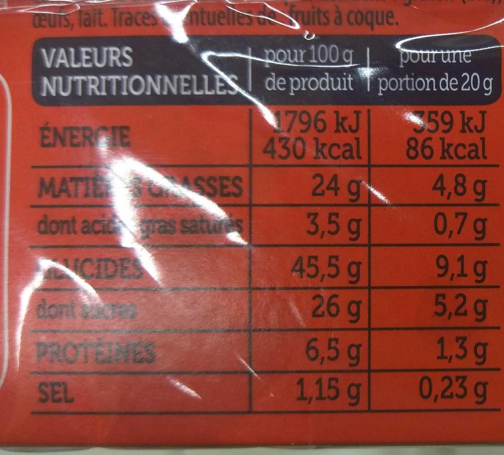 Le Moelleux Chocolat - Informations nutritionnelles - fr