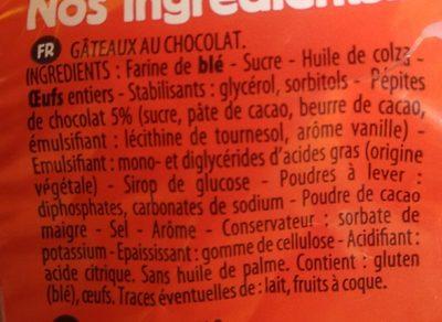 Madelons Extra Moelleux Pépites de Chocolat - Ingrédients - fr