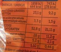 Madelons Extra Moelleux Pépites de Chocolat - Informations nutritionnelles - fr