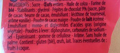 Mini's Pépites de Chocolat - Ingrédients