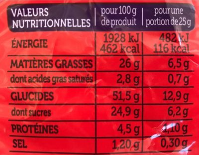 Madeleines Extra Moelleuses - Informations nutritionnelles - fr